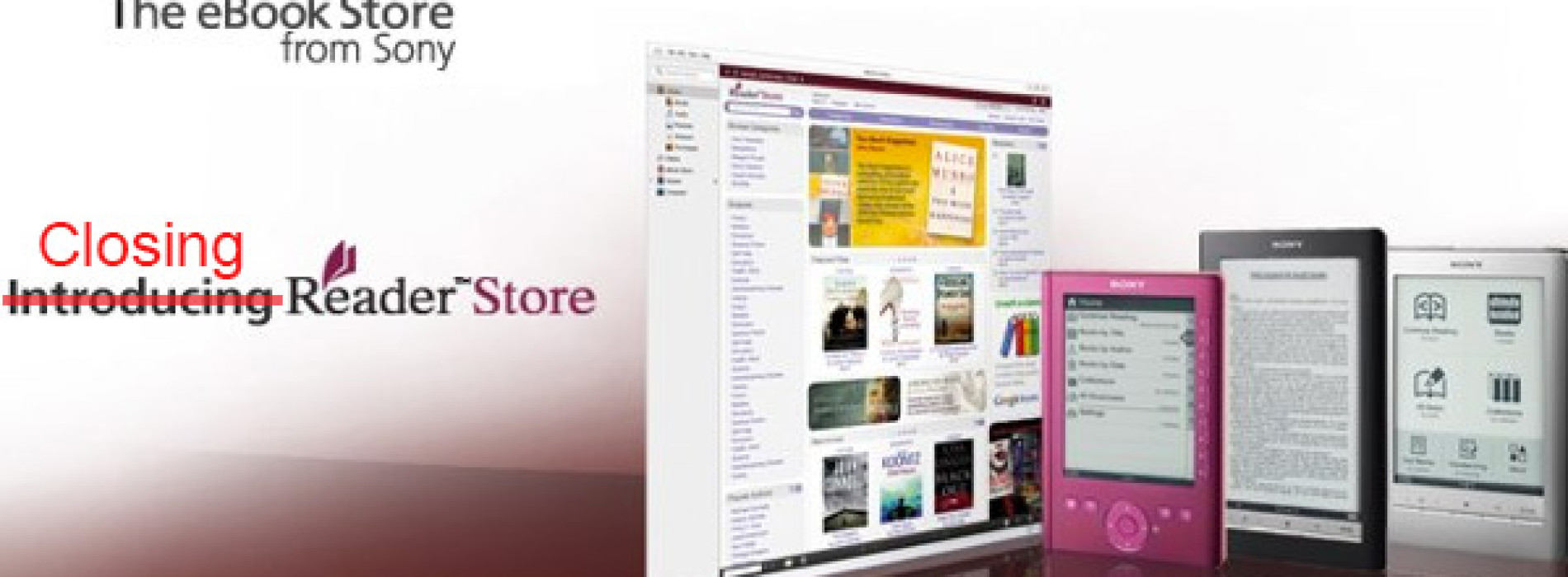 Sony ruší obchody Reader Store – konec ebook čteček Sony?