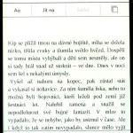 Obrazovka Kindle Paperwhite 2 s CZ menu