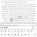 Možnost vyhledat slovo ve slovníku zadáním na softwarové klávesnici