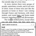 Výklad a překlad zadaného slova.