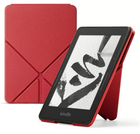 Amazon Protective Leather Cover for Kindle Voyage, Red