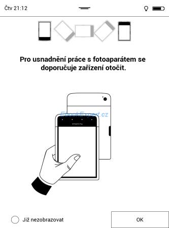 PocketBook Ultra - fotoaparát