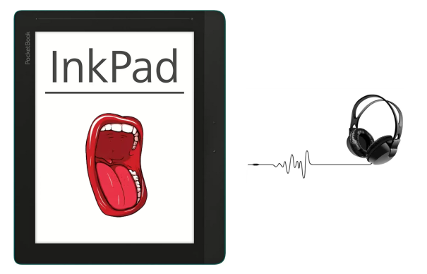 PocketBook Inkpad - předčítání textu (TTS - Text-to-speech)