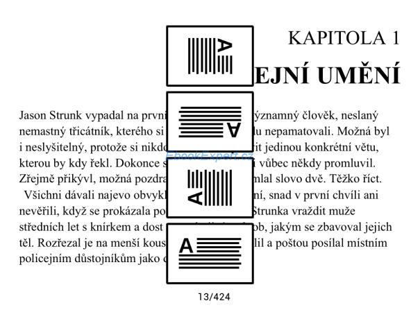 PocketBook Ultra - otočení orientace displeje