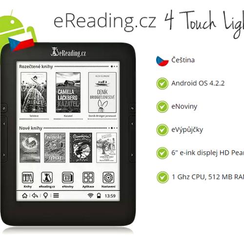Druhá aktualizace pro eReading.cz 4 Touch Light