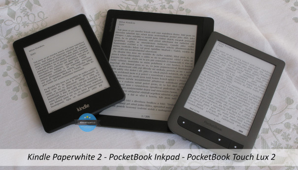 Srovnání PocketBook Inkpad vs Touch Lux 2 vs Kindle Paperwhite 2