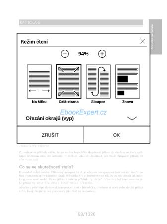 PocketBook Inkpad - režimy pro čtení PDF dokumentů