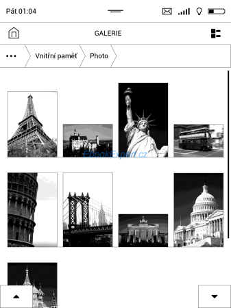 PocketBook Inkpad - prohlížeč obrázků