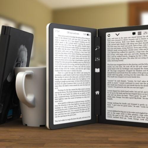 Koncept ebook čtečky s dvěma obrazovkami – Flipbook