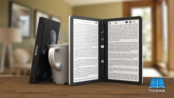 Koncept ebook čtečky s dvěma obrazovkami – Flipbook - See more at: http://e
