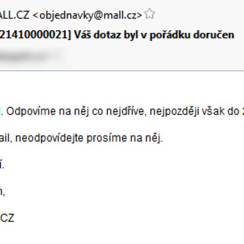 Musíme si pomáhat – výpomoc pro Mall.cz