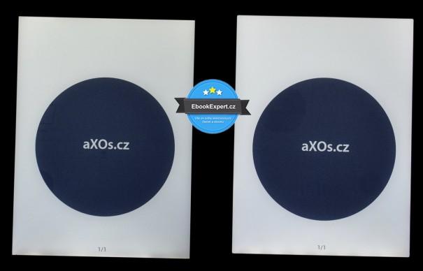 Vlevo: PocketBook Sense, vpravo: PocketBook Touch Lux 2. Displeje jsou v podstatě identické.