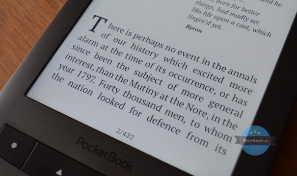PocketBook Touch Lux 3 - podsvícení je rovnoměrnější