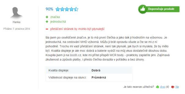 Fake recenze zboží