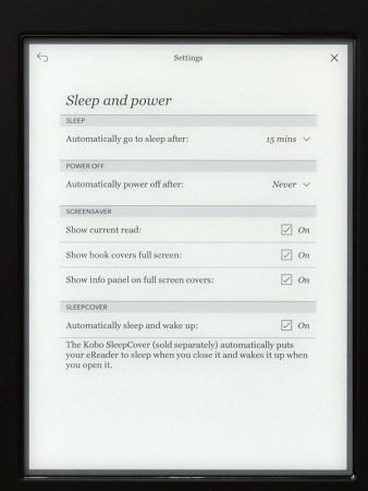 Kobo Aura H2O - Sleep and Power