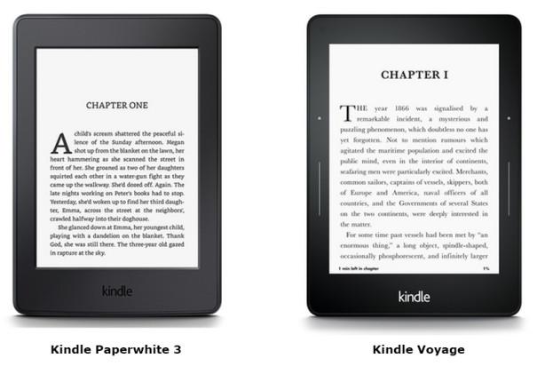Kindle Paperwhite 3 a Kindle Voyage - stejné displeje s rozlišením úžasných 300ppi