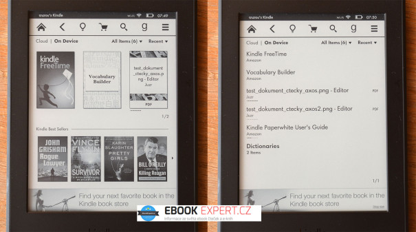 Reklama na hlavní obrazovce čtečky Kindle Paperwhite 3