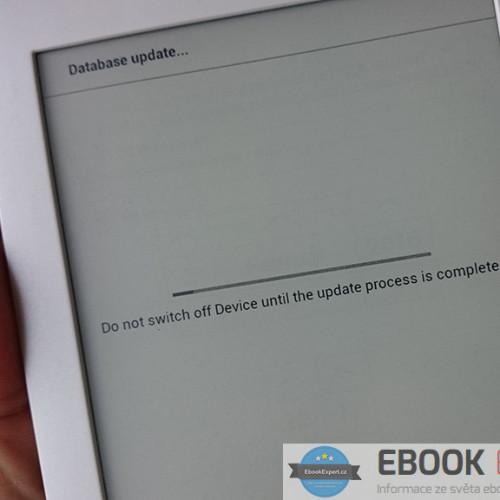Database update… na čtečce Pocketbook Touch Lux 3