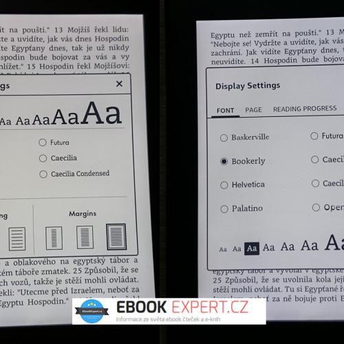 Nový vzhled uživatelského rozhraní pro Amazon Kindle 6 Touch, Kindle Paperwhite 2 a 3 a Kindle Voyage ve fw 5.7.2