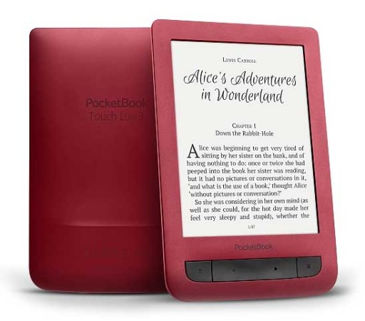 Pocketbook Touch Lux 3 ruby red - červená