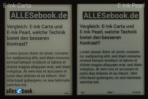 E-Ink Carta vs Pearl