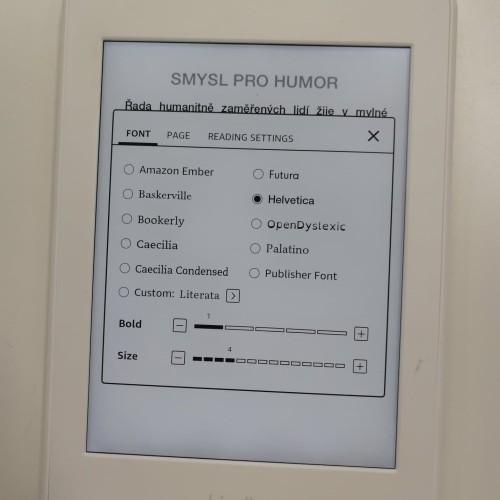 Vlastní fonty do e-book čteček Amazon Kindle