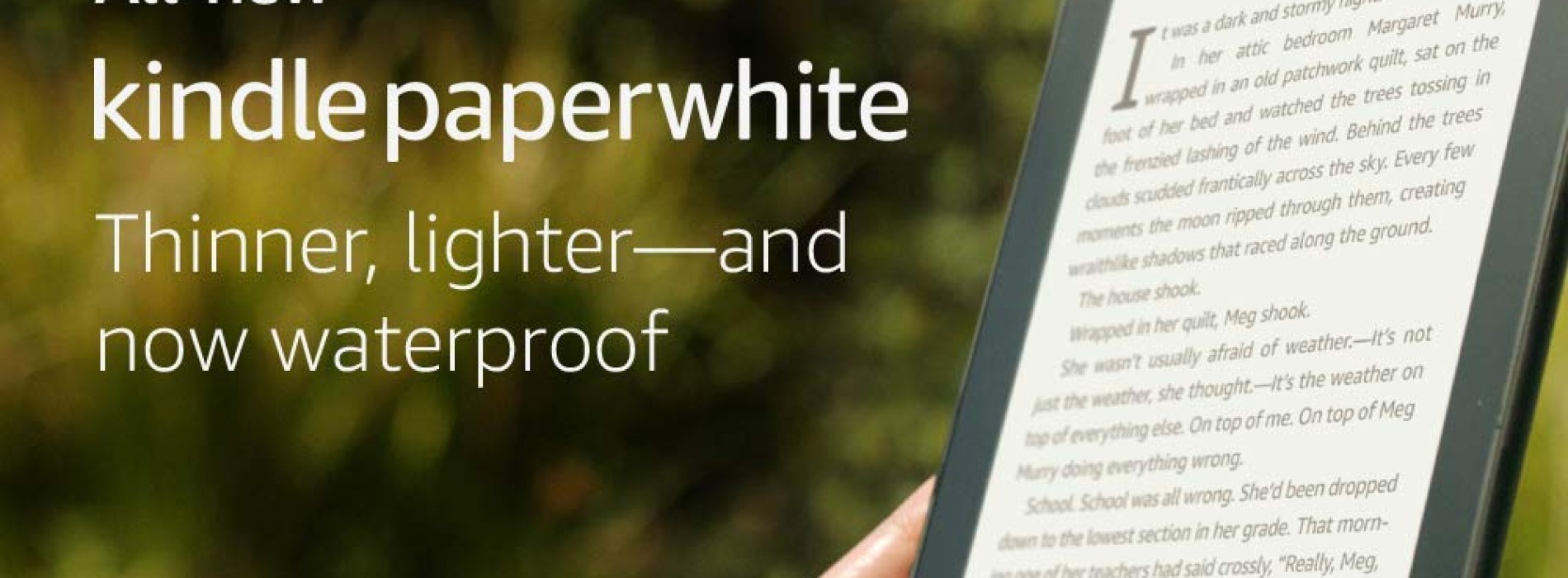 All-new Kindle Paperwhite – neboli tentokrát vodotěsný – Paperwhite 4?